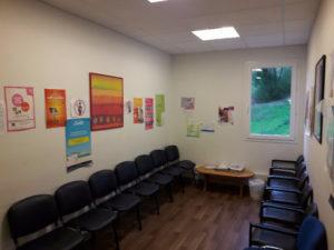 Salle d'attente à l'HPL